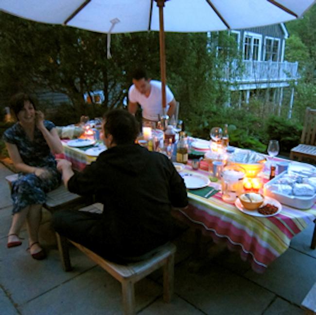 Friends at Dinner Table Galavant Girl