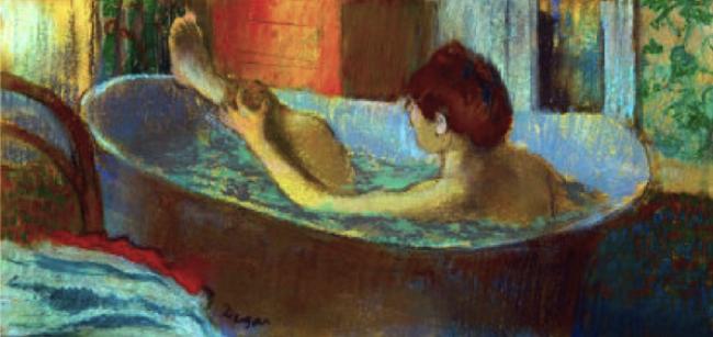 Galavant Girl Degas Painting Woman in a Bath