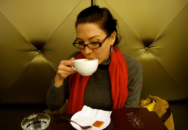 Elise McMullen-Ciotti The Galavant Girl Sipping Chocolate